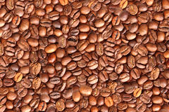 Background of roasted black coffee beans Stock Image