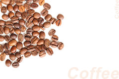 Background of roasted black coffee beans Stock Photography