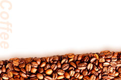 Background of roasted black coffee beans Stock Images