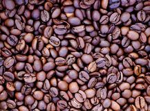 Background of roasted brown coffee stock photos