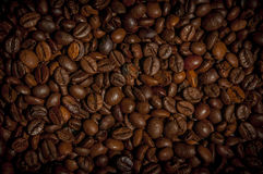 Background of roasted coffee beans royalty free stock photo