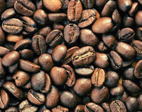 Background Of Roasted Coffee Beans Stock Photo