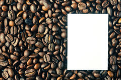 Background Of Roasted Coffee Beans Royalty Free Stock Images