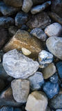 Background rock dry on a glacier river bed Royalty Free Stock Photography