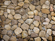 Background of rock wall made of stone. Background of yellow rock wall made of stone Royalty Free Stock Images
