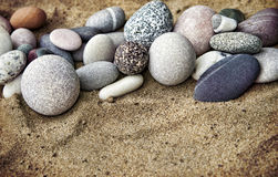 Background rocks and sand closeup Royalty Free Stock Photos