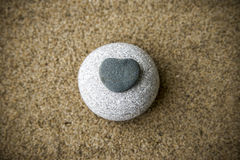 Background rocks and sand closeup Royalty Free Stock Image