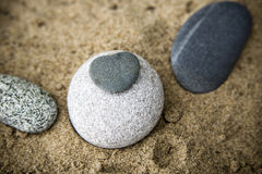 Background rocks and sand closeup Royalty Free Stock Photo