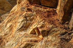 Background of eroded rock royalty free stock photography