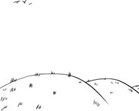 Background of Rolling Hills as Outline Sketch Stock Image