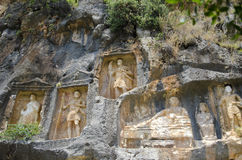 Background with Roman bas-reliefs in the mountains of Turkey Royalty Free Stock Photos