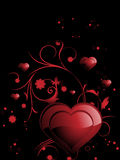 Background with romantic floral design heart Royalty Free Stock Photos