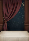 Background of the room with  table, window and cur Royalty Free Stock Photos