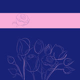 Background with rose Stock Image