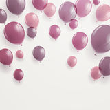 Background with Rose Balloons Royalty Free Stock Photos