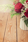 Background with rose flower bouquet close up Stock Photography
