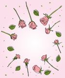 Background with rose flowers Stock Images