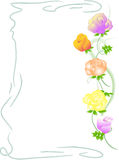 Background with rose flowers. Vector illustration with many rose flowers on white background Royalty Free Stock Images