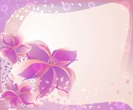 Background with rose flowers Royalty Free Stock Images