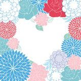 Background rose heart card. Beauty beautiful Royalty Free Stock Photography