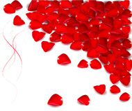 Background with rose petals. Stock Photos