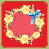 Background with roses Royalty Free Stock Images