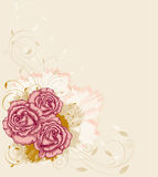 Background with roses Stock Image