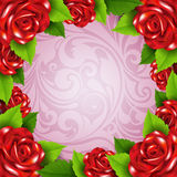 Background with roses Stock Photography