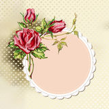 Background with roses Royalty Free Stock Photos