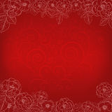 Background with roses and heart Stock Photography