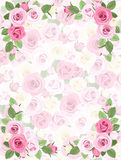 Background with roses pattern. Stock Photos