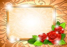 Background with roses and a place for text Stock Photography