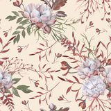 Background of roses. Seamless pattern. royalty free stock images
