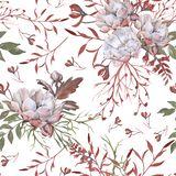 Background of roses. Seamless pattern. stock photo