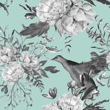 Background of roses. Seamless pattern. stock images