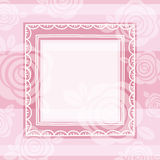 Background of roses and square frame, vector Stock Images