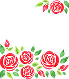 Background with roses Stock Photos