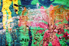 Background of rough surface wall various colors Royalty Free Stock Image