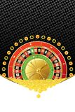 Background with roulette and coins Royalty Free Stock Images