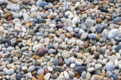 Background of round colored sea pebbles Stock Image