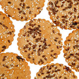 Background of round cookies Stock Photo