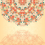 Background with a round floral pattern Stock Image