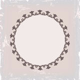 Background of round floral vintage frame Stock Photos