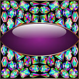 Background round frame made ​​of precious stones Stock Image