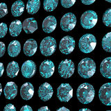 Background with round gemstone. Sky blue topaz. Grandidierite Stock Photo