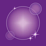 Background with round halftone in purple Royalty Free Stock Photo