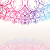 Background with round natural pattern Royalty Free Stock Images