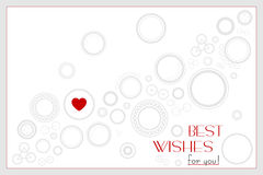Background with Rounds and Heart for Birthday or Wedding or Vale Stock Image