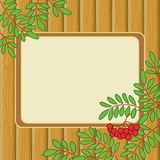 Background with rowanberry and table Royalty Free Stock Images