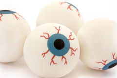 Background of rubber toy eyeballs Stock Photos